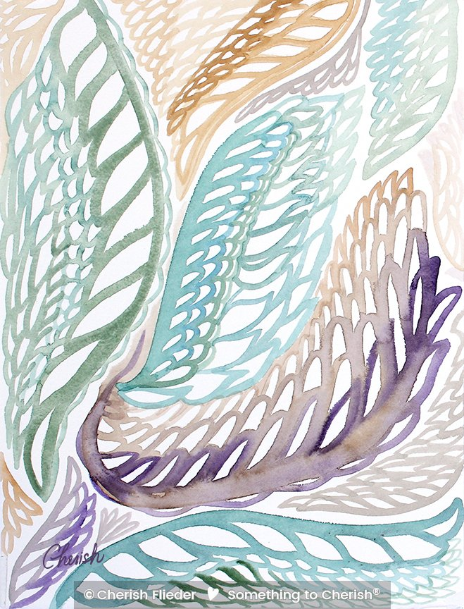 Painted Design C1351-02 Angel Wings © Cherish Flieder