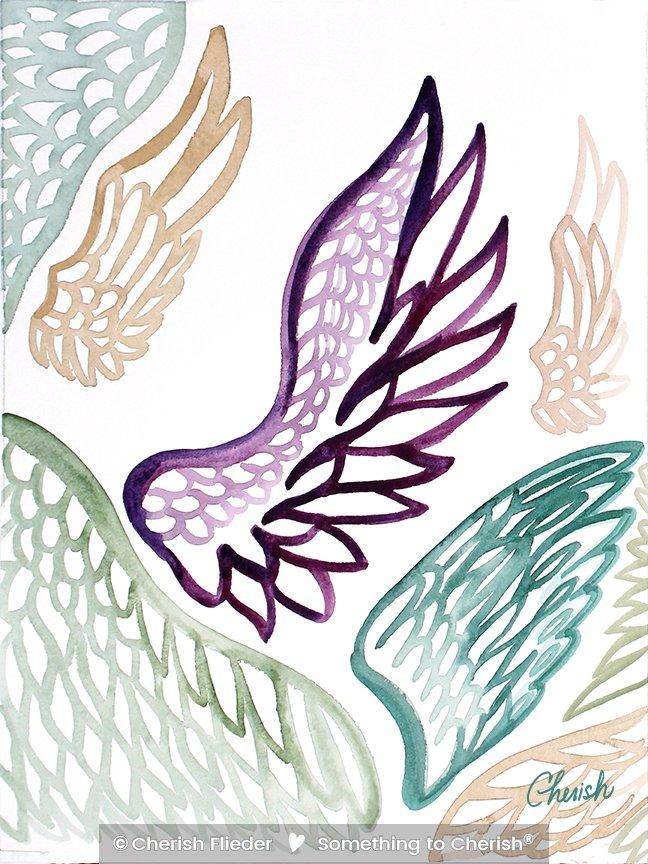 Painted Design C1351-03 Angel Wings © Cherish Flieder