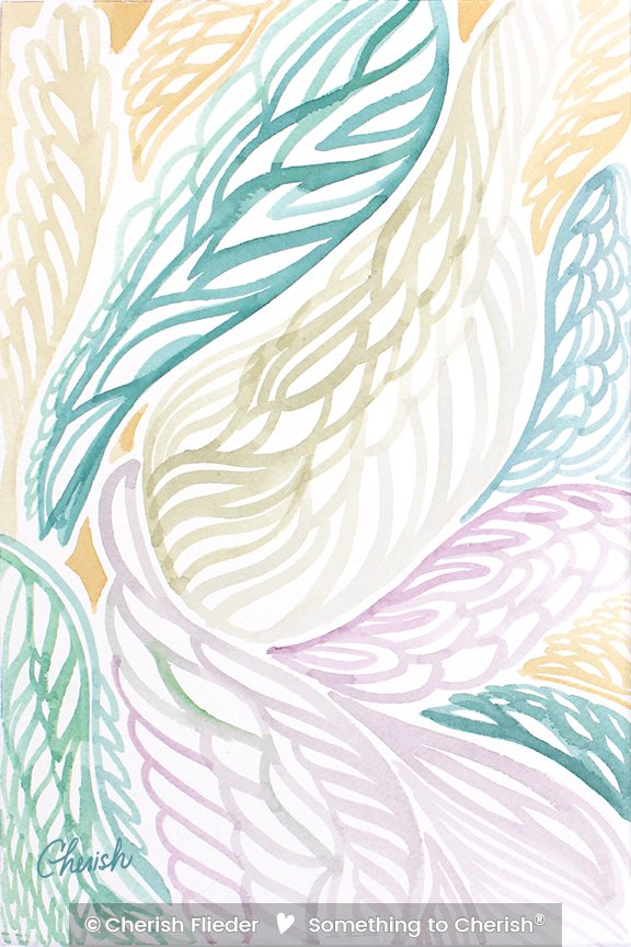 Painted Design C1351-04 Angel Wings © Cherish Flieder