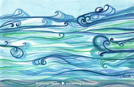 C1808-01b Water Tapestry Landscape by Cherish Flieder