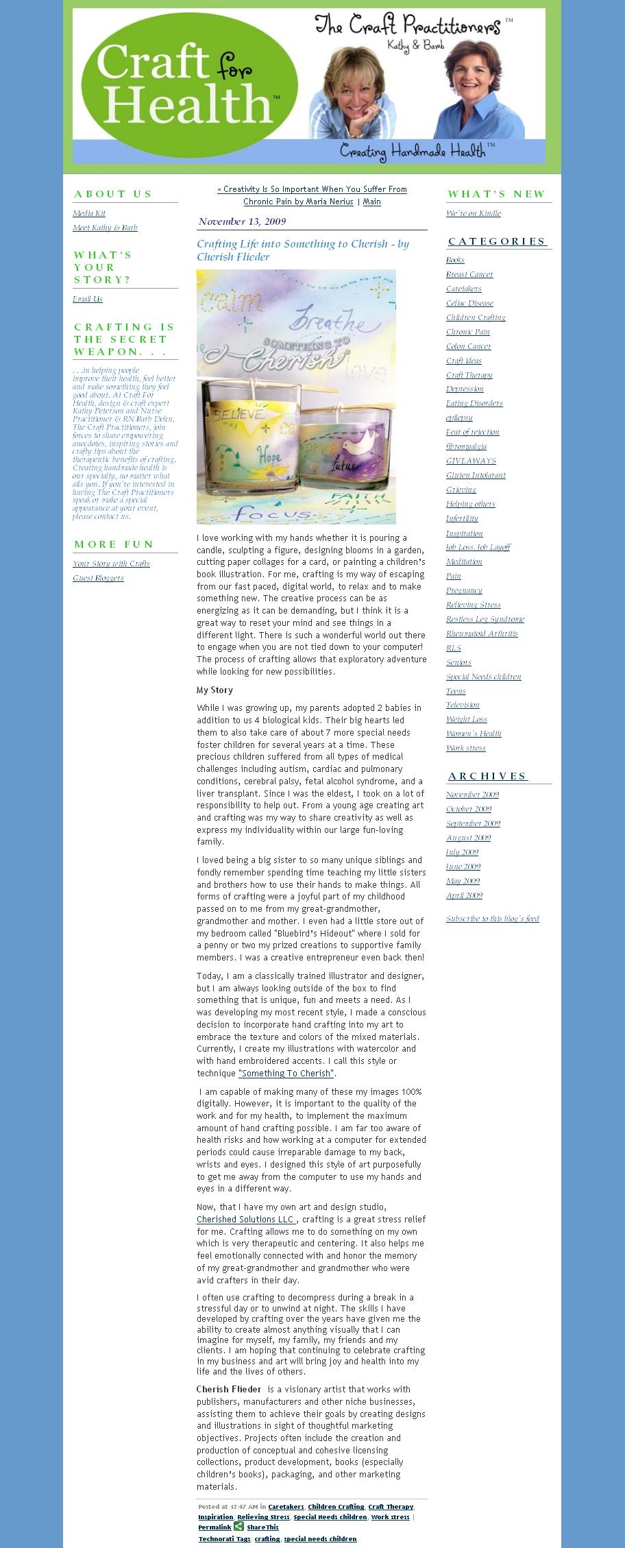 Craft for Health - Cherish Flieder - Art Licensing