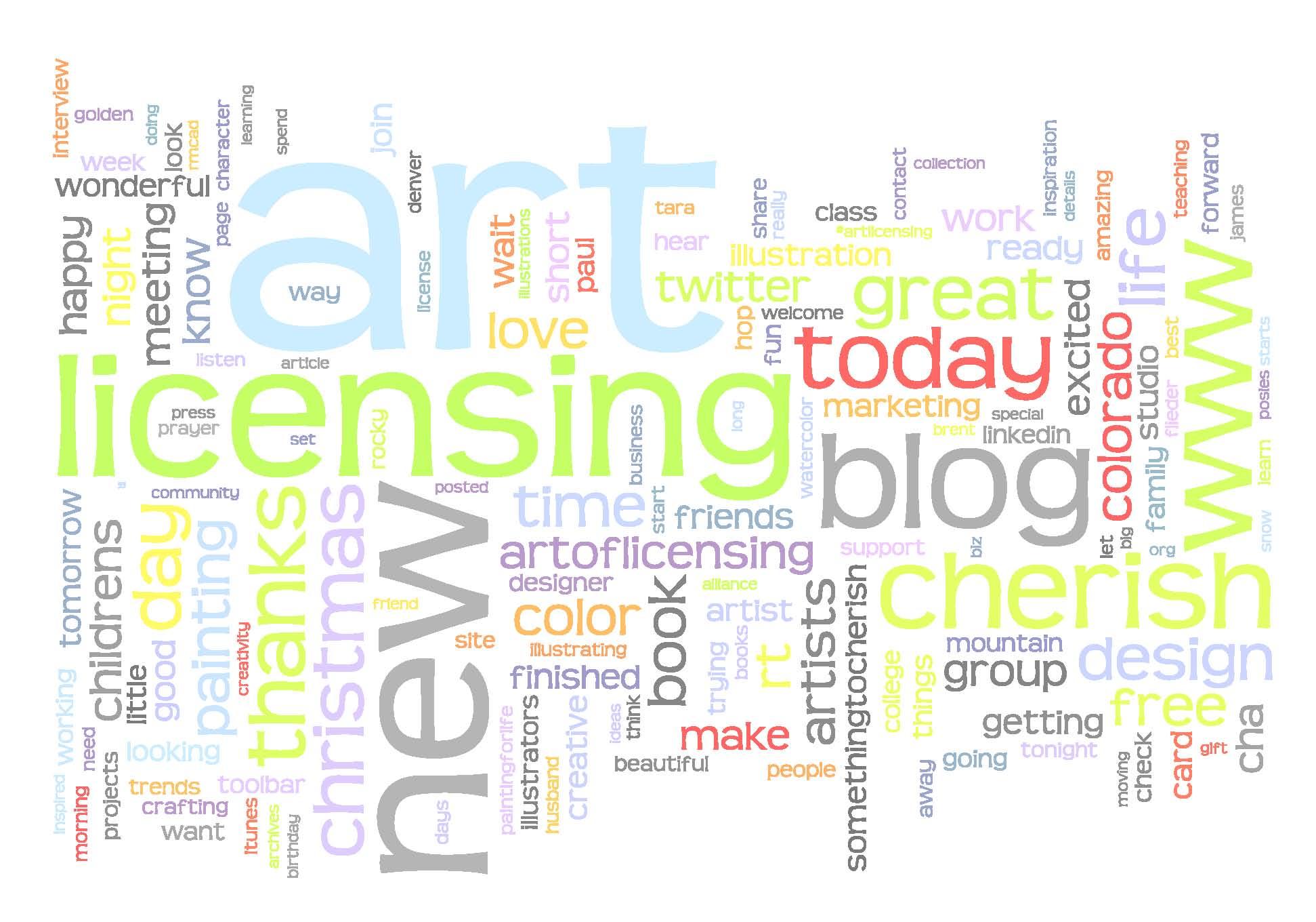 Twitter Wordle for @cherishart
