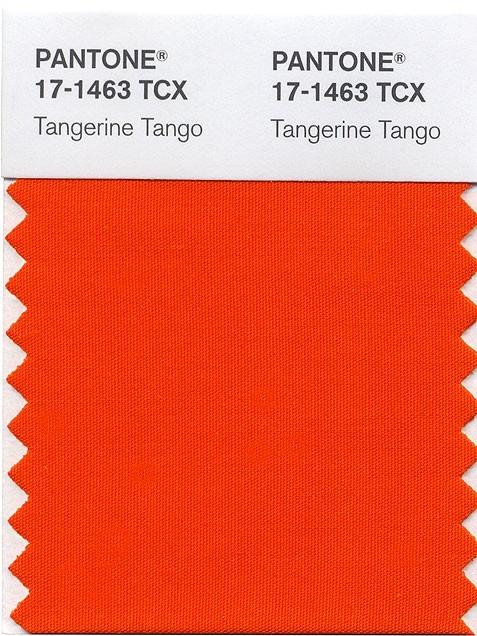 Tangerine Tango Pantone Swatch