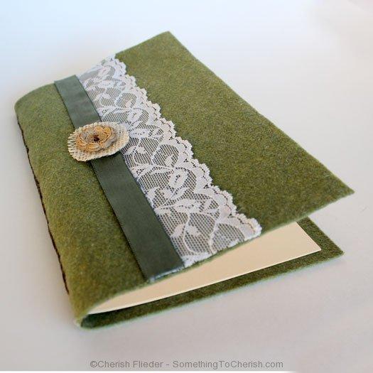 DIY Felt Journal by Cherish Flieder
