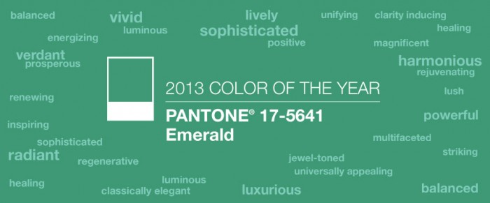 pantone 2013 color emerald