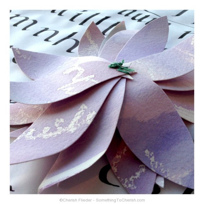 How to make watercolored paper flowers - Back