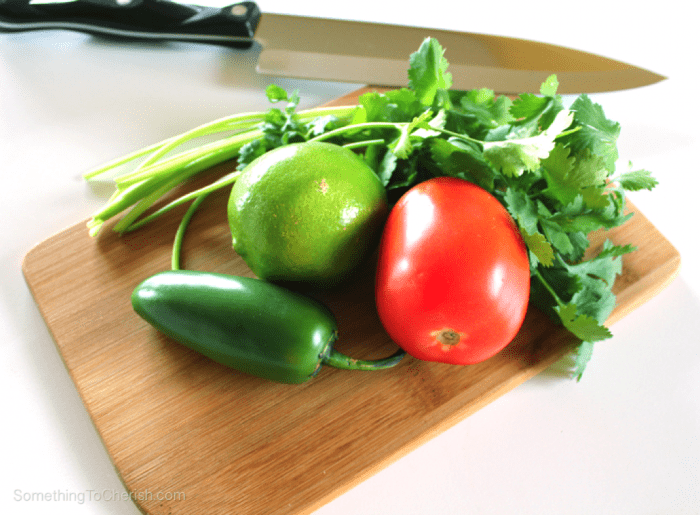 Ingredients Fresh Garden Salsa Recipe by Benjamin Hummel for Something to Cherish