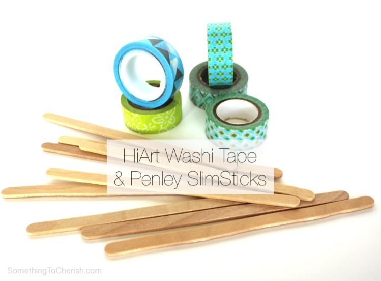 HiArt Washi Tape Garden Plant Markers - DIY with Penley Slim Sticks