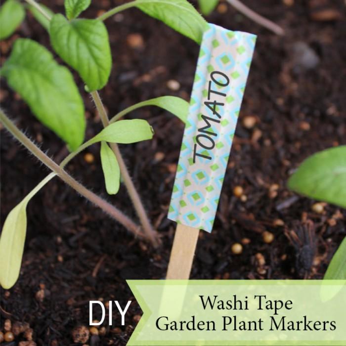 Washi Tape Garden Plant Markers - DIY
