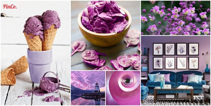 Radiant Orchid Pantone2014 Pinterest Board Collage