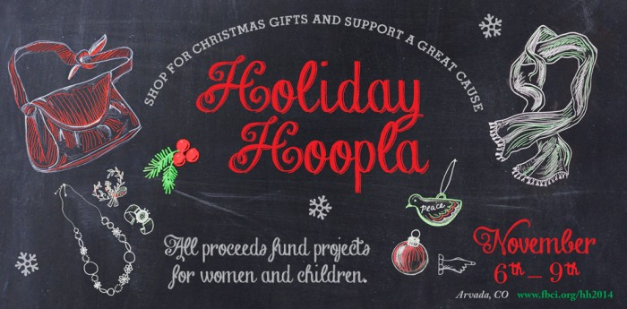 Web Slider: Holiday Hoopla Chalk Art Campaign Illustrated and Designed by Cherish Flieder