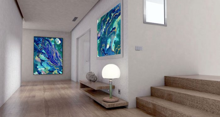 Blue Marble Cove Original Artwork by Cherish Flieder - Artist Something to Cherish