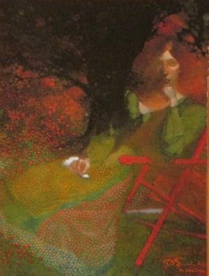 English-seated-woman